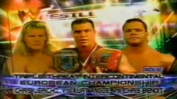 Chris Jericho vs Kurt Angle vs Chris Benoit