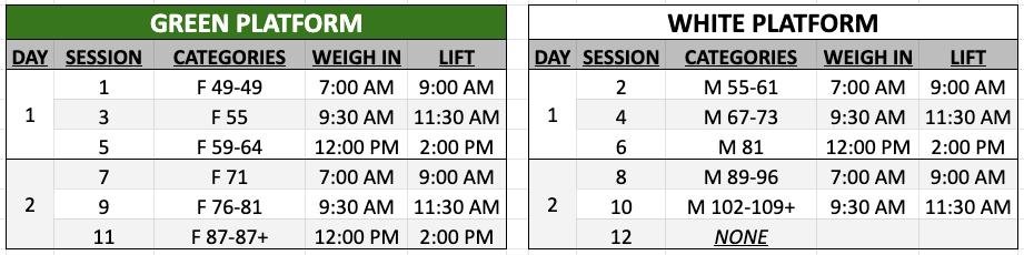 TBSC4 Schedule