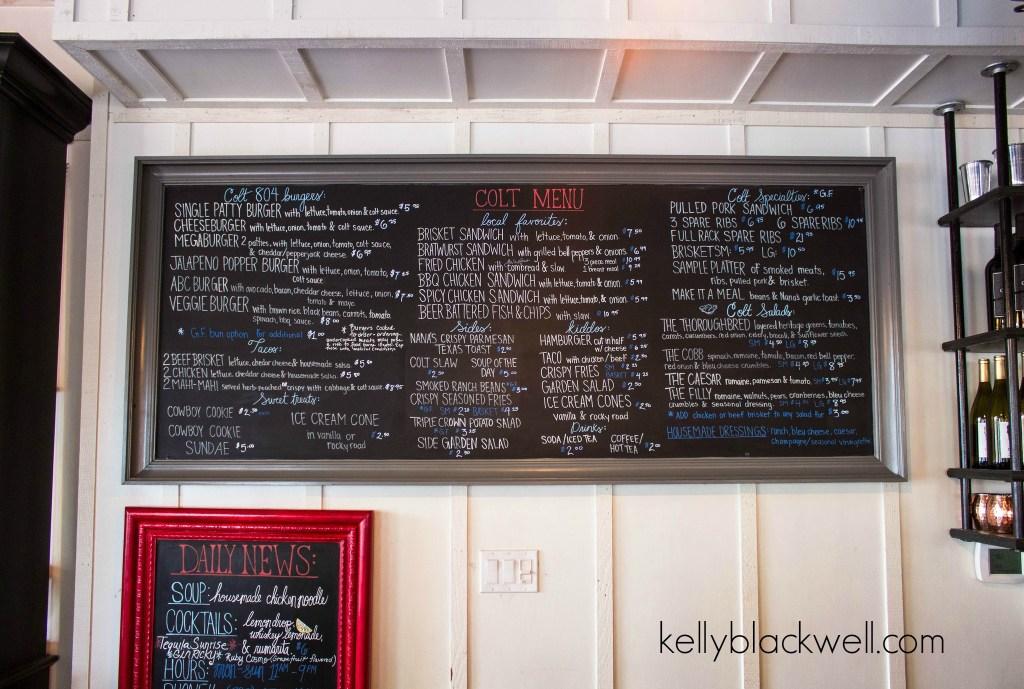 colt menu