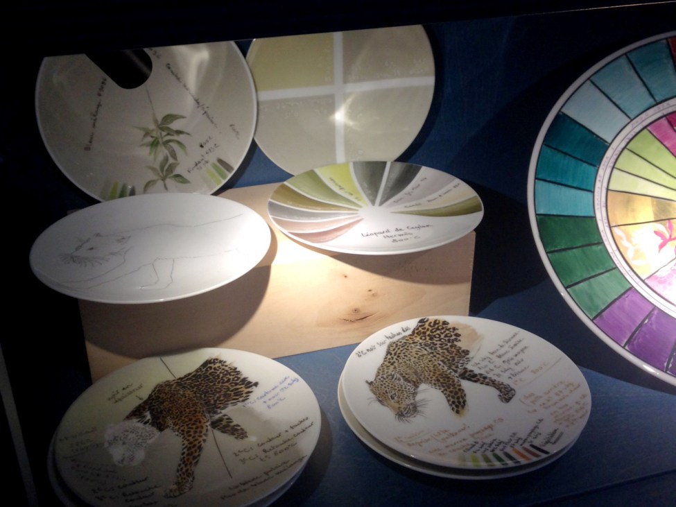 Plates showing the steps to creating the porcelain masterpieces.