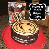 Zebra Birthday Cake: Product Review for Duff Goldman Mix