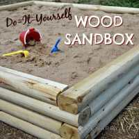 DIY Wood Sandbox and BLACK+DECKER AutoSense Drill Giveaway