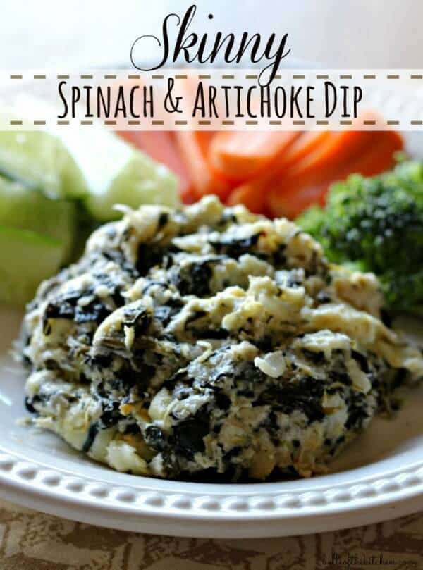Skinny Spinach Artichoke Dip - Belle of the Kitchen