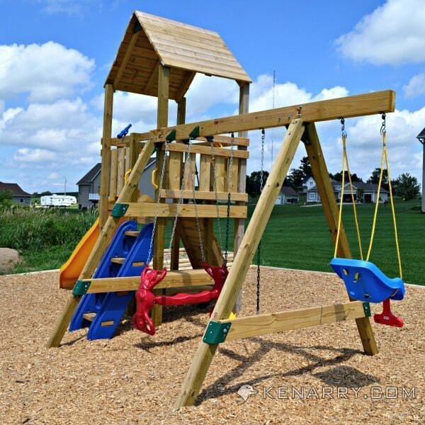 Diy backyard playground how to create a park for kids for Kids home playground