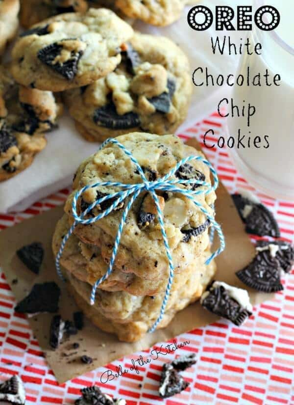 Oreo White Chocolate Chip Cookies from Belle of the Kitchen