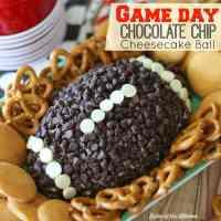 Game Day Chocolate Chip Cheesecake Ball