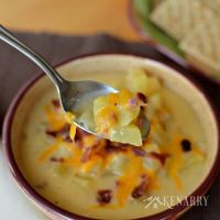 Slow Cooker Potato Soup Loaded with Ham and More