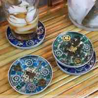 Steampunk Mosaic Coasters: How To Mosaic With Resin
