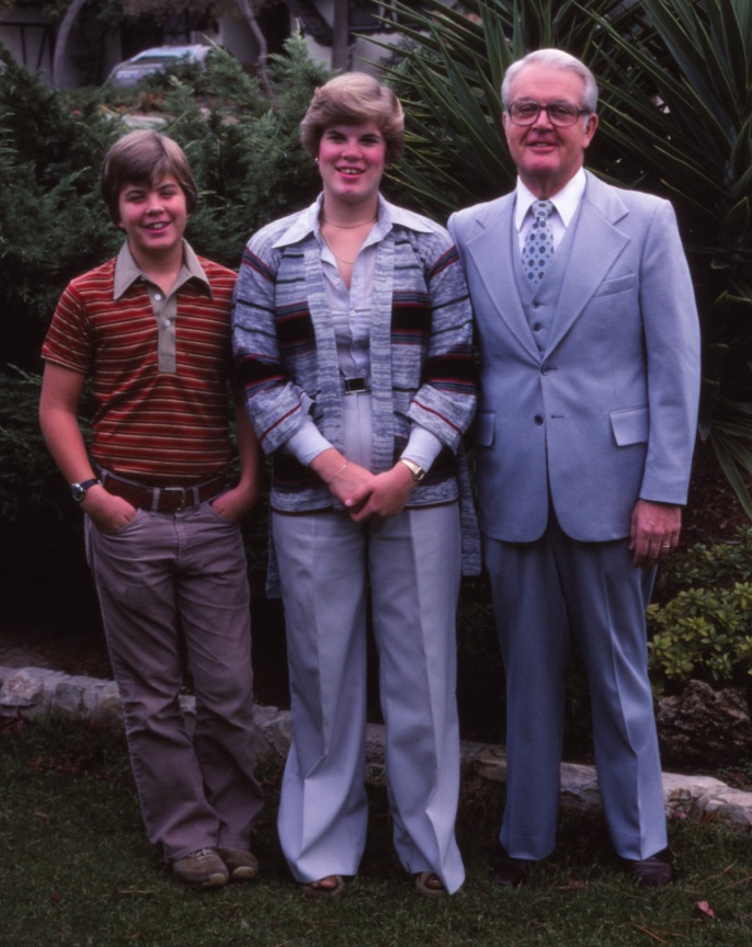Dad, Rob and Karin c1977