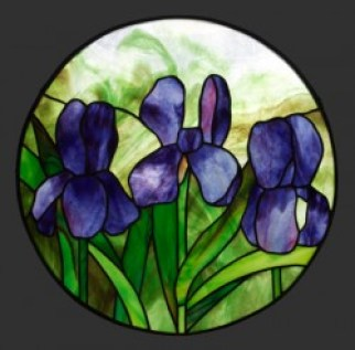 Blue Irises Pendant
