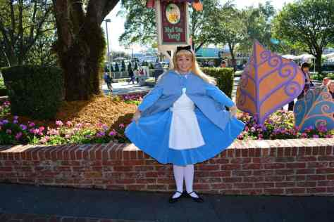 Alice In Wonderland In Her Winter Costume At The Magic