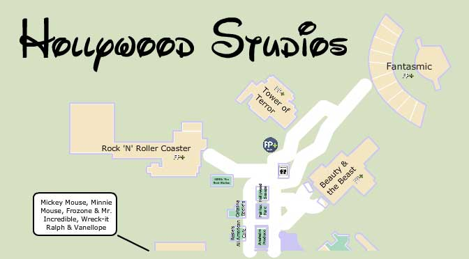 Map of Hollywood Studios 2014 Best Hollywood Studios Map