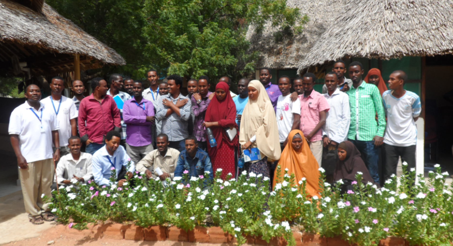 Project Planning and Management Trainers of Trainers group photo taken in Dadaab, Kenya