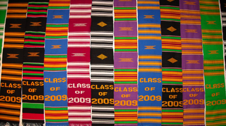 kente stoles in different colors