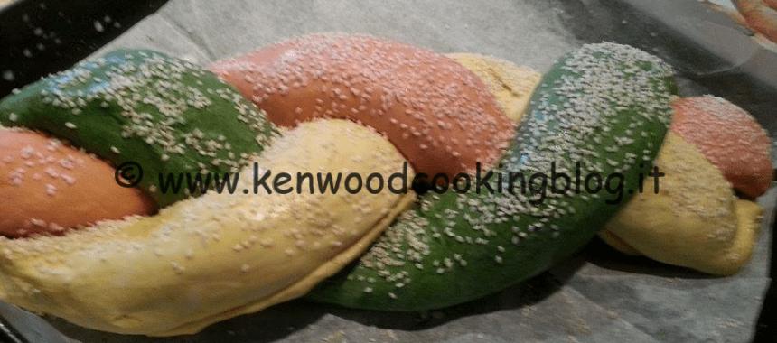 Ricetta treccia farcita tricolore Kenwood