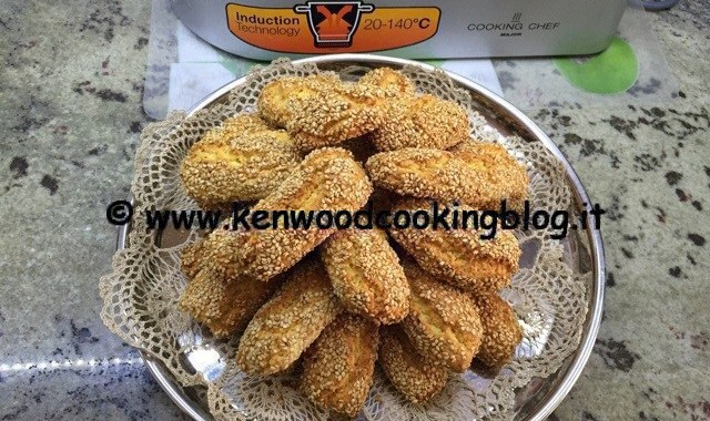 Ricetta biscotti al sesamo o reginelle siciliane Kenwood