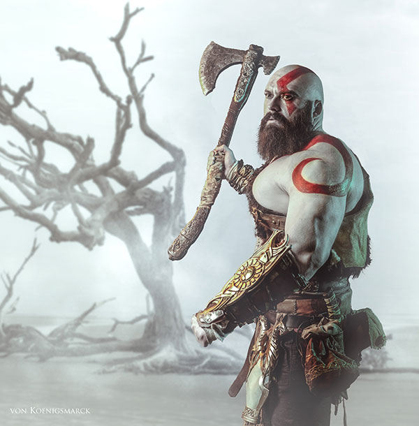 Kratos Cosplay Kes Cosplay God of War Leviathan Axe