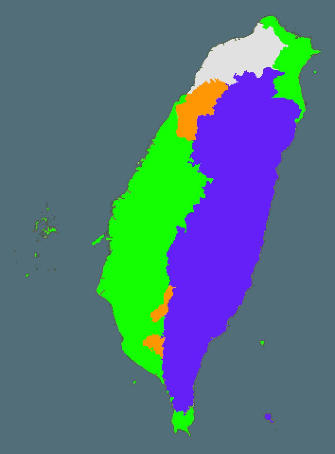 Taiwan's language usage by geography