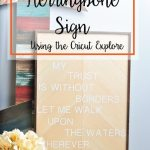 DIY Herringbone Sign using the Cricut Explore