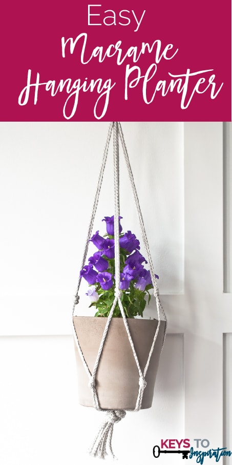 Easy Macramé Hanging Planter