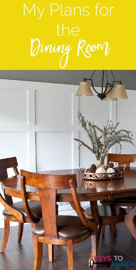 She shares her list of updates to transform her house into a home - this is the dining room list!