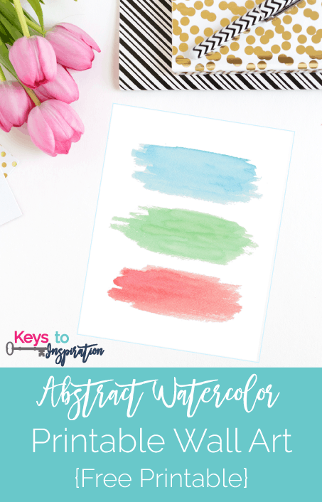 I love this simple and colorful summer wall art! Perfect for a gallery wall :)