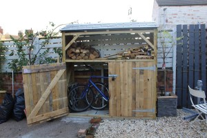 自己动手做Bike Shed with Log Storage
