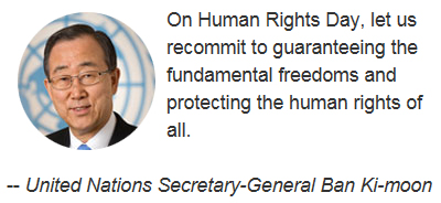 ban ki-moon on 2015 Human Rights Day