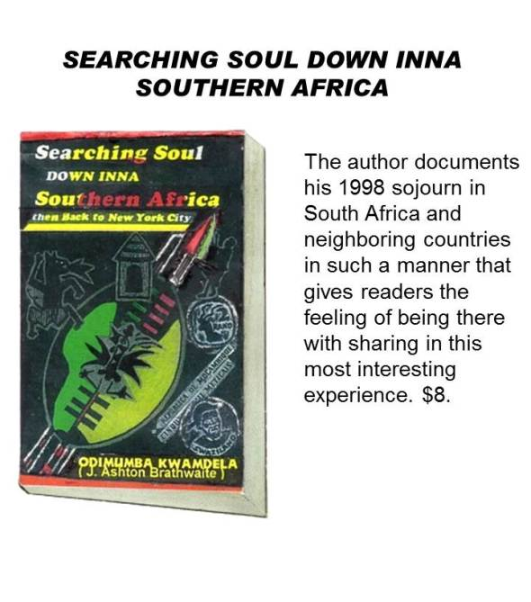 SEARCHING SOUL DOWN INNA SOUTHERN AFRICA