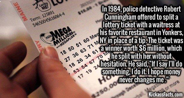 1876 Lottery ticket Split