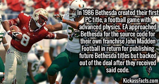 1997 EA Football Bethesda