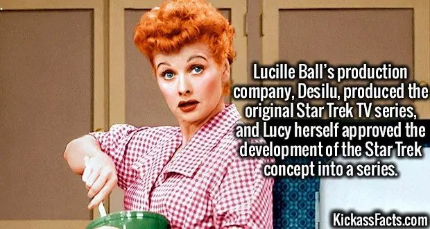 3601 Lucille Ball-Lucille Ball's production company, Desilu, produced the original Star Trek TV series, and Lucy herself approved the development of the Star Trek concept into a series.