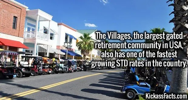 3640 The Villages-The Villages, the largest gated retirement community in USA, also has one of the fastest growing STD rates in the country.