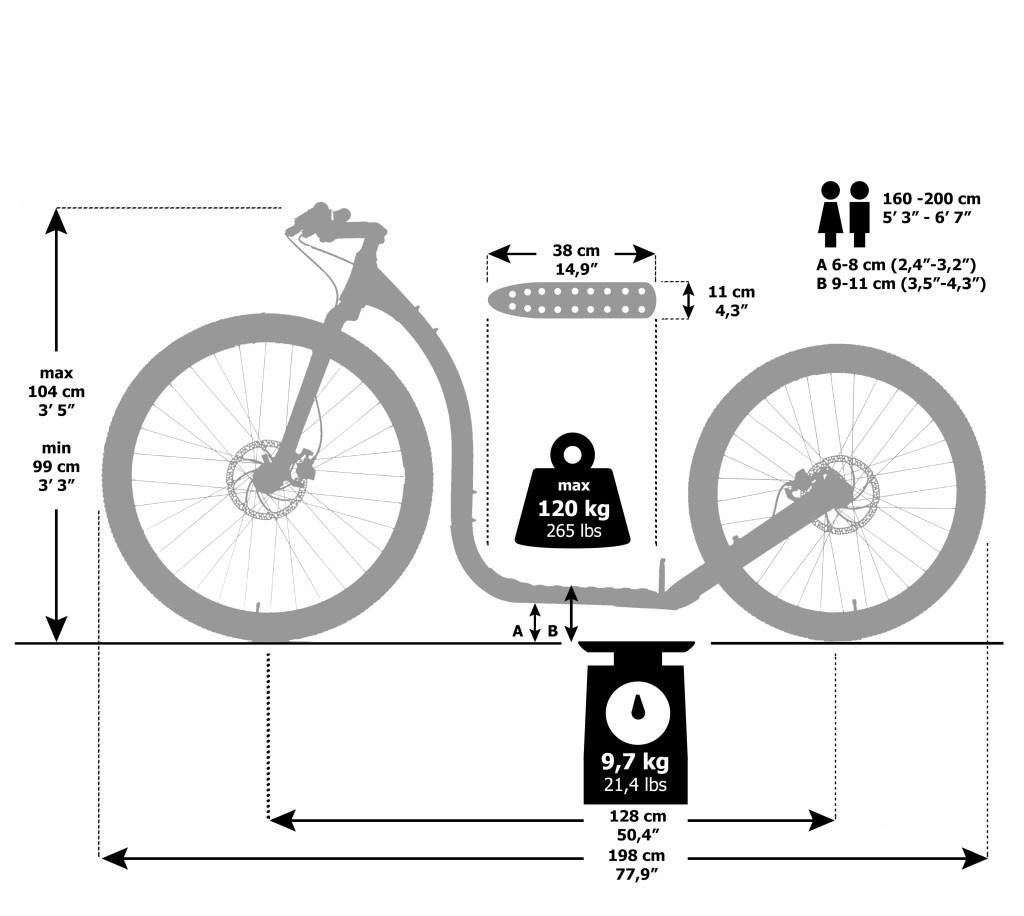 Kickbike 29ER Dimensions