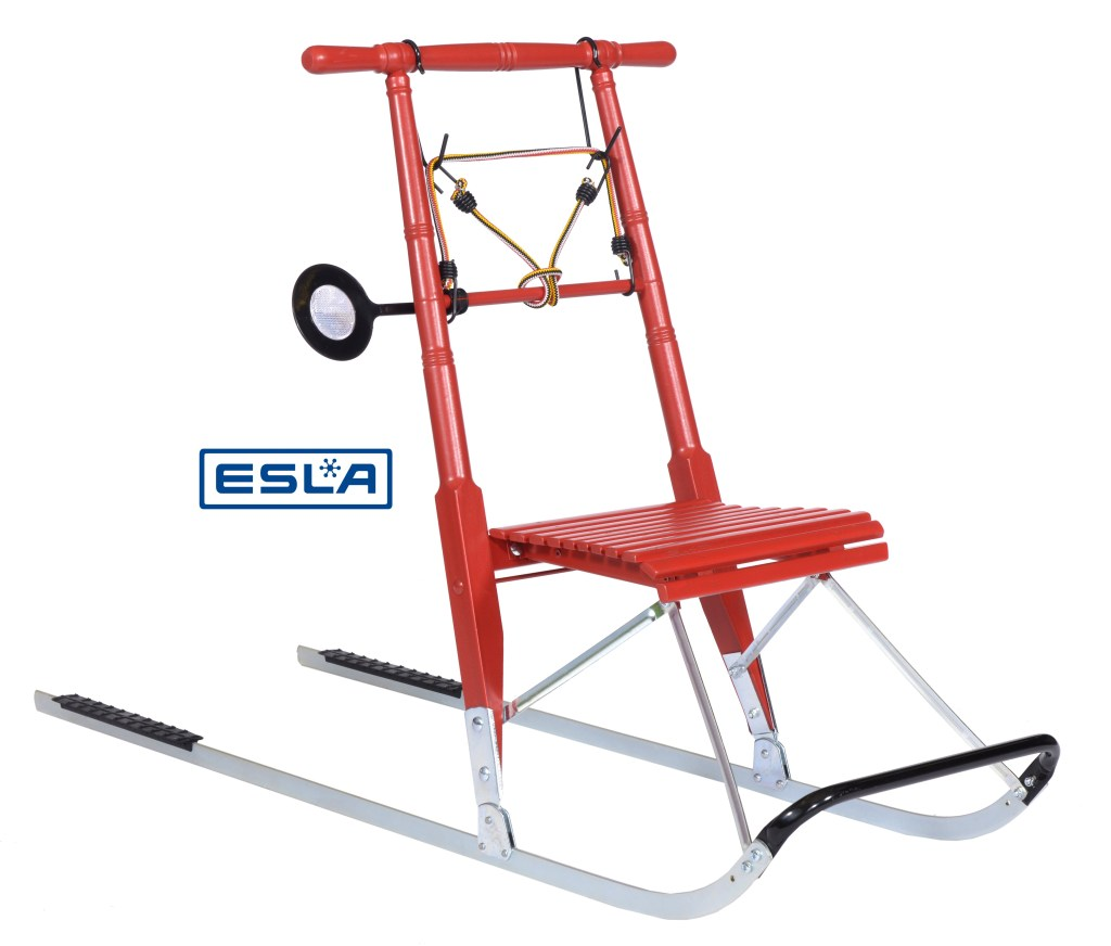 Kicksled Compact patinette neige rouge