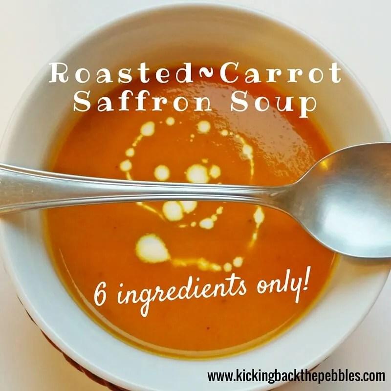 Roasted Carrot Saffron Soup