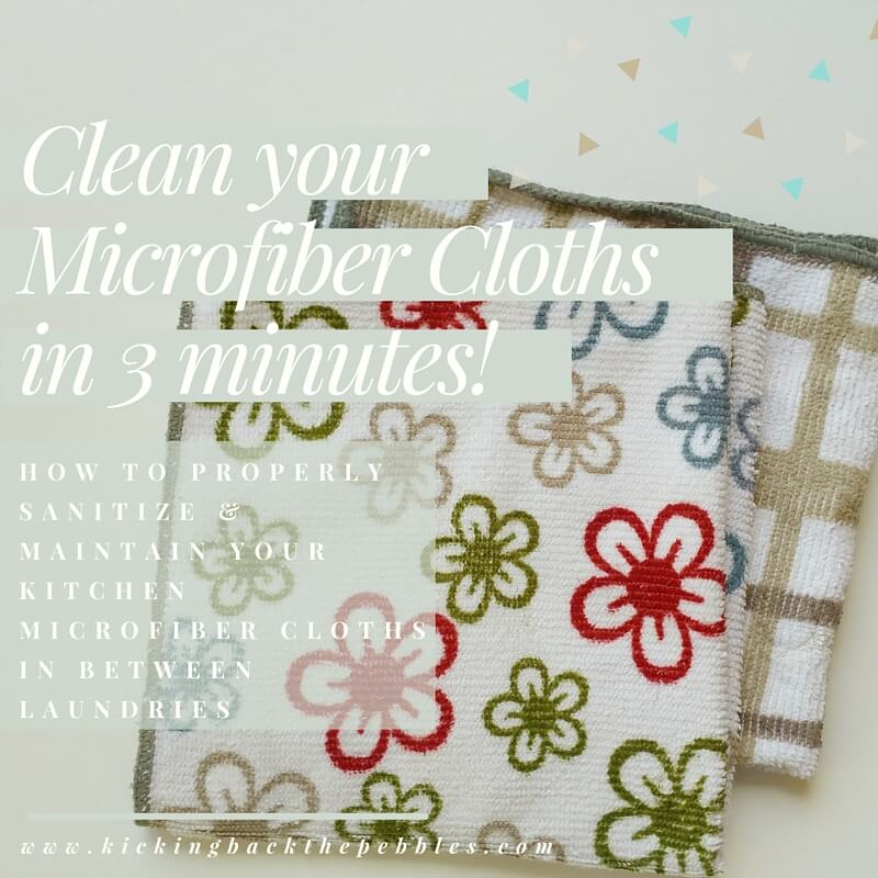 How to Sanitize your Microfiber Cloths