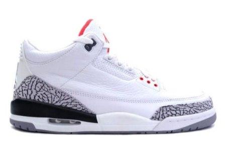 Air Jordan III (3) Retro – White – Cement Grey – Slam Dunk Pack - 2010 Release