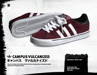 Adidas Campus Vulc - Maroon