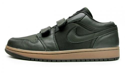 Air Jordan 1 (I) Velcro Low – Black / Gum