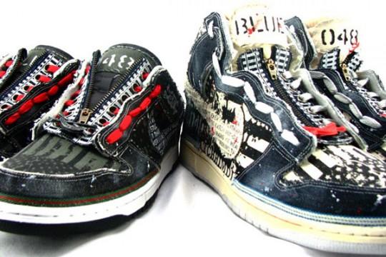 SBTG Varsity Bones - Nike Dunk - Prison Blues Pack - Detailed Pictures