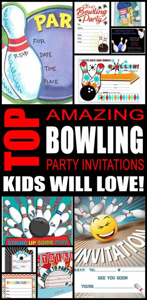 Medium Of Bowling Party Invitations