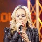 Katy Tiz singing in studio