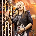 Katy Tiz singing in the Canal Side Lounge