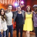 Andy Grammer with the cast