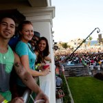 The cast at the Flo Rida Concert