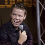 "Will Poulter from ""The Maze Runner"" laughing with the cast"