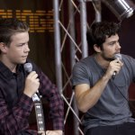 "Dylan O'Brien and Will Poulter from ""The Maze Runner"""