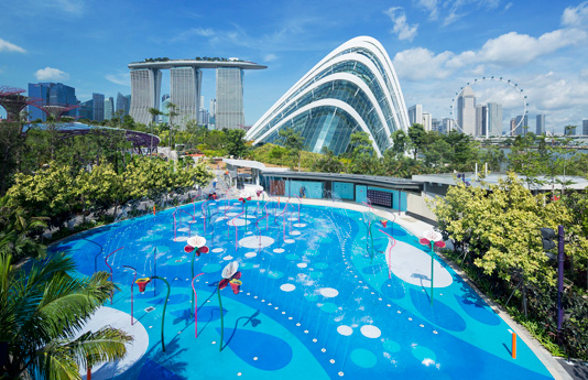 Garden By The Bay Playground water play places in singapore | kids and parenting