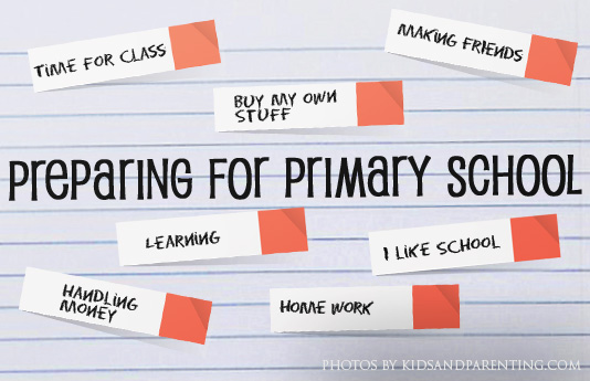 Preparing for Primary One